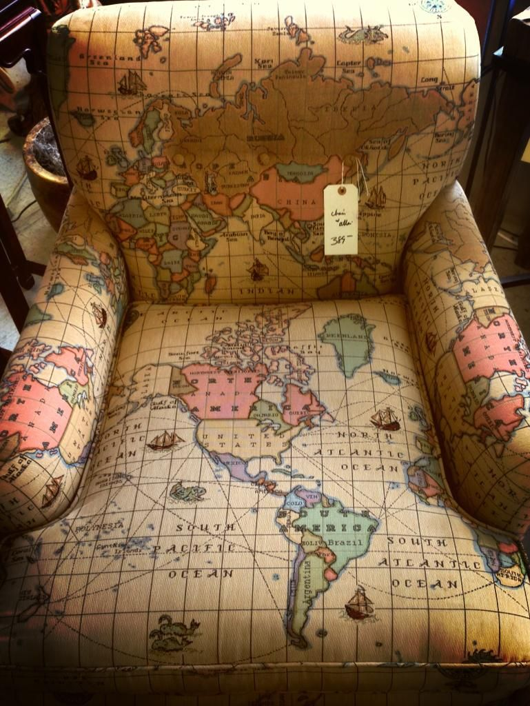 Gentleman pirate on armchairs globe and map globe amazing map chair for the armchair traveller gumiabroncs Image collections