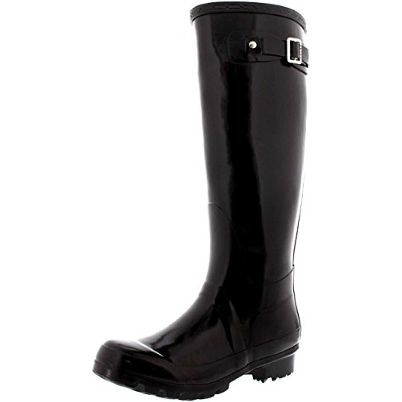 Womens Original Tall Gloss Winter Waterproof Wellies Rain Wellington Boot