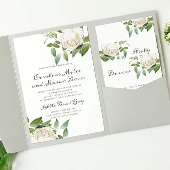 Print Your Own Wedding Invitations Templates: Printable Pocket Wedding Invitation