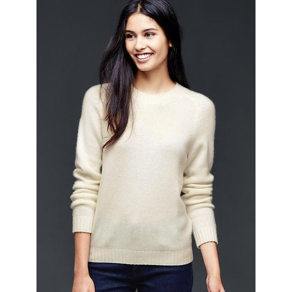 Gap Women Cashmere Crewneck Sweater ($148) ❤ liked on Polyvore ...