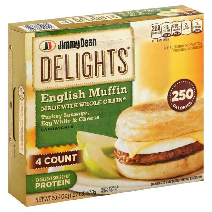 Jimmy dean delights turkey sausage egg white cheese