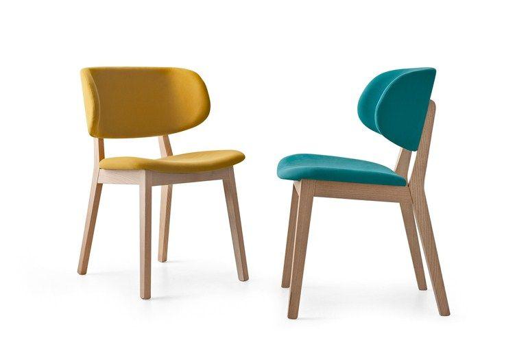 Sedia imbottita in tessuto CLAIRE - Calligaris   Chairs ...