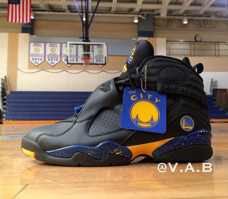 eb701c644b5 Golden State Warriors Custom Air Jordan 8 | Jordan | Jumpman jordans ...