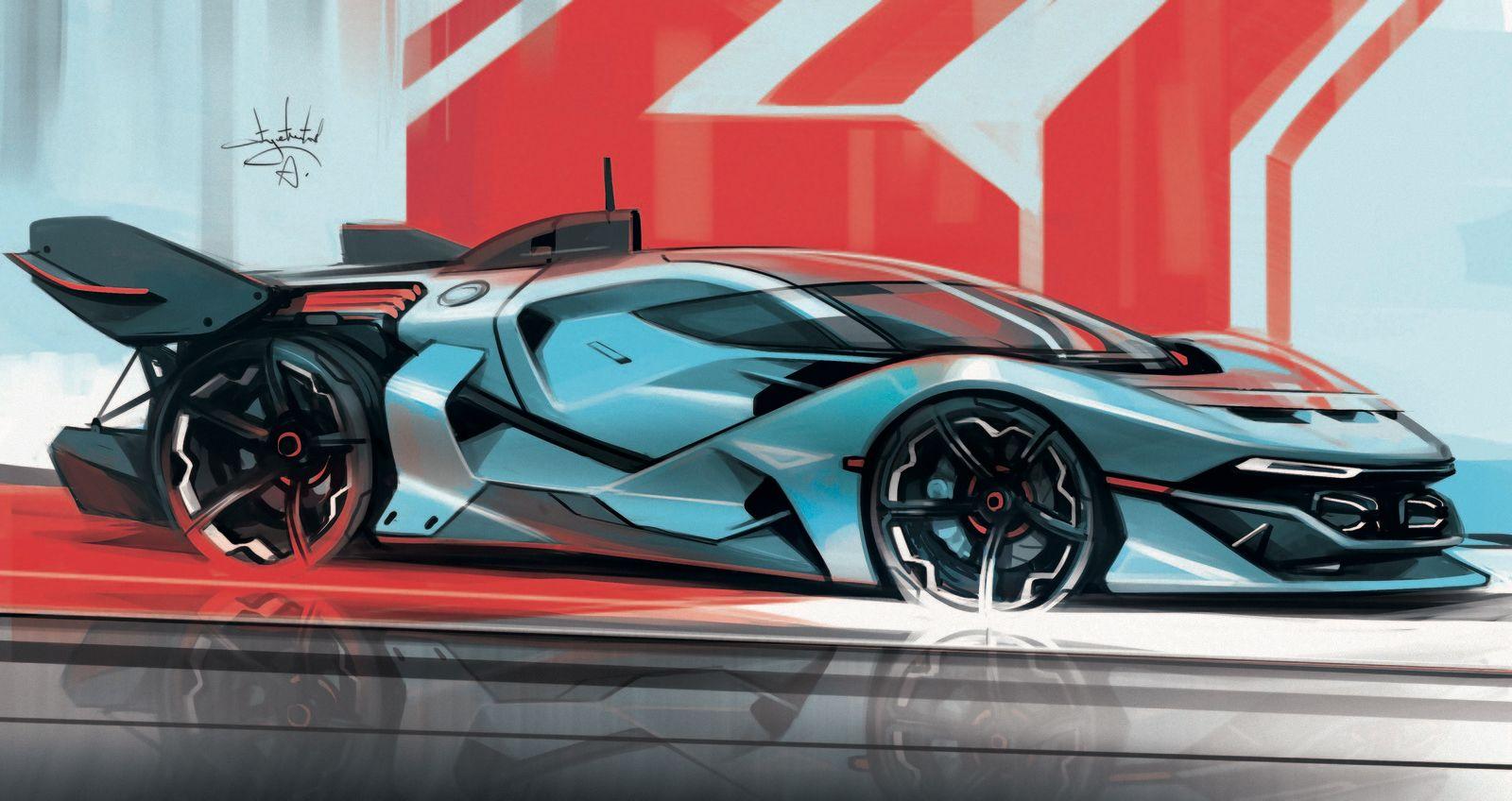 Concept Car Design Sketch Futuristic Supercar Industrial Design Digital Sketches Concept Car Renders Vehi Concept Cars Concept Car Design Car Design Sketch