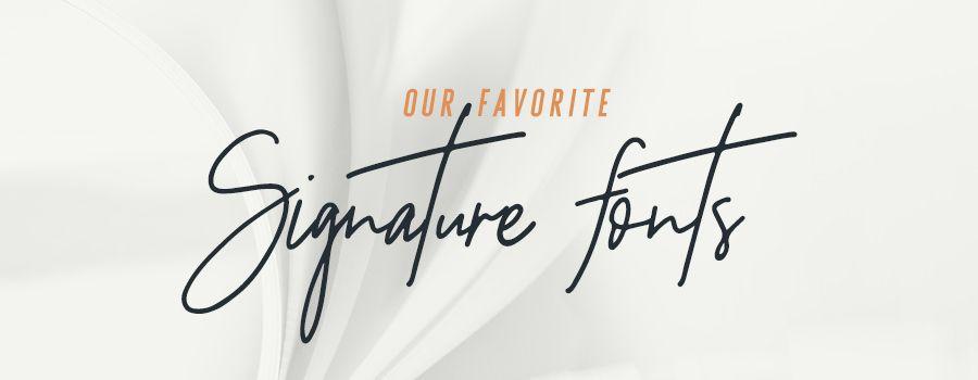free signature fonts for logo design
