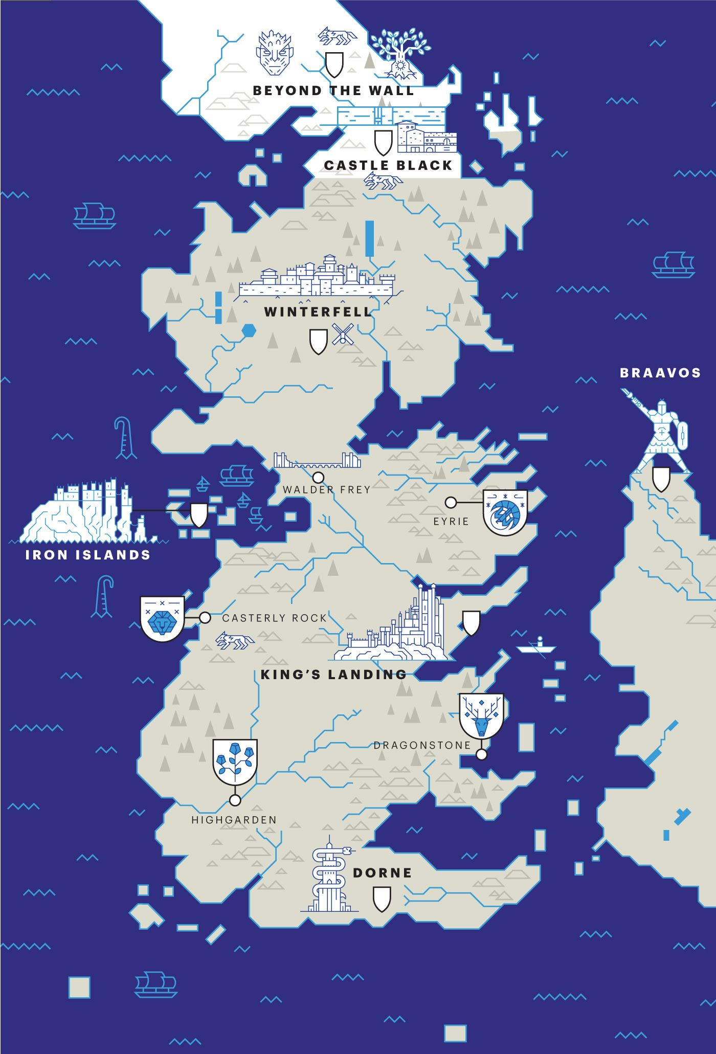 A brand new map of game of thrones for entertainment weekly the a brand new map of game of thrones for entertainment weekly the american magazine about tv series gumiabroncs Gallery