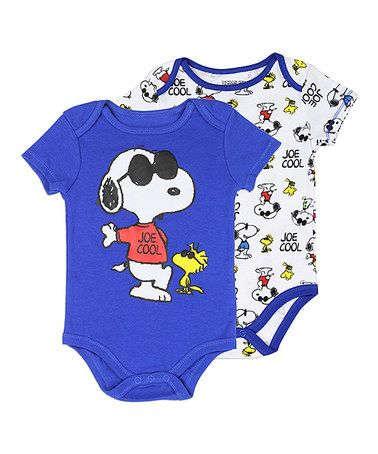 6df9f5a3a1 Another great find on  zulily! Peanuts Snoopy Bodysuit Set - Infant ...