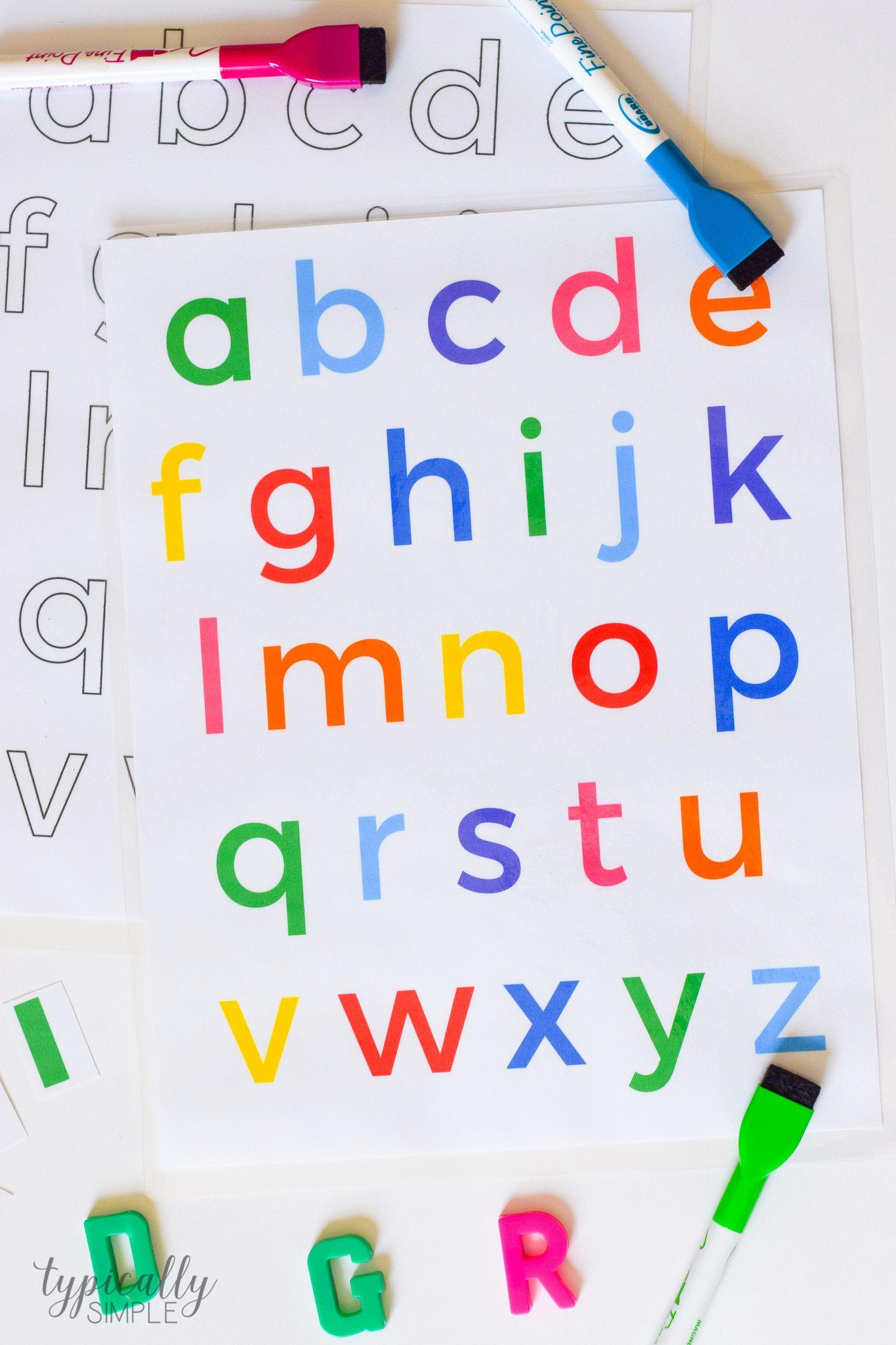 Alphabet Activities Lowercase Letters Printable