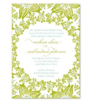 Mckenna Invitation Sample Garden Wedding Stationery