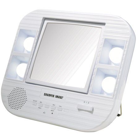 Sharper Image Makeup Mirror.Sharper Image J1025 Led Lighted Makeup Mirror With Bluetooth