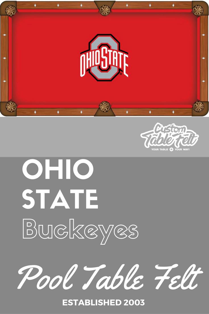Ohio State Buckeyes Pool Table Felt College