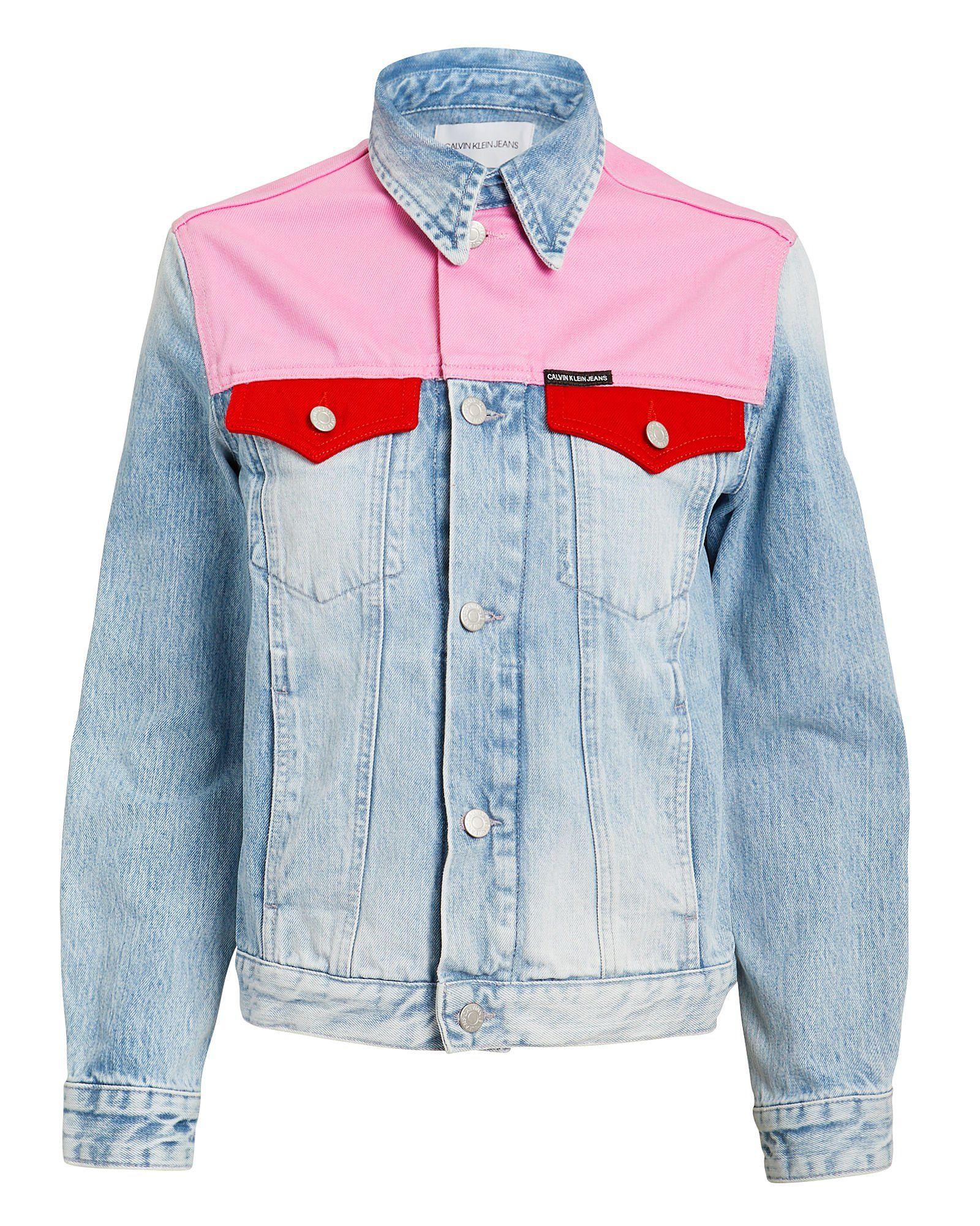 Colorblock Denim Jacket Denim Jacket Denim Design Jackets [ 2000 x 1600 Pixel ]
