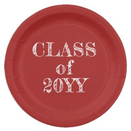 Class of 20XX chalkboard graduation paper plates - kitchen gifts diy ideas decor special unique inidual customized   kitchen gifts   Pinterest   ...  sc 1 st  Pinterest & Class of 20XX chalkboard graduation paper plates - kitchen gifts ...