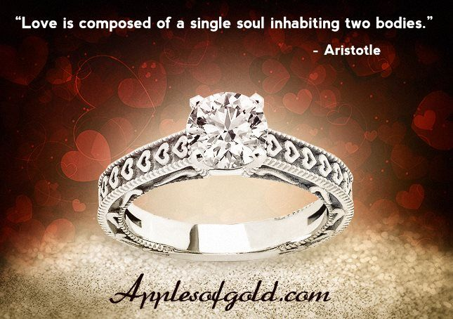Check Out the 1/2 Carat Engraved Hearts Diamond Engagement Ring http://buff.ly/2aVrBQI
