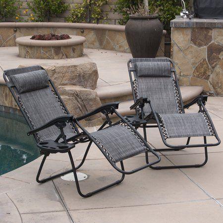 Excellent Belleze 2Pc Zero Gravity Chairs Lounge Headrest Patio Cjindustries Chair Design For Home Cjindustriesco