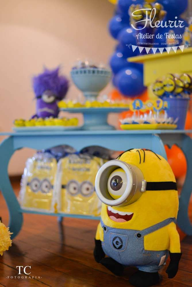 Despicable Me   Minions Birthday Party Ideas | Photo 4 Of 7. Minion Baby  ShowerDessert TableMinion PartyDecoration ...