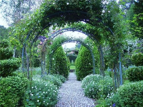 Over The Garden Walk: Arches Over Cobbled Walk. From: The Garden Aesthetic
