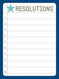 Free resolutions printable for planners and scrapbooking