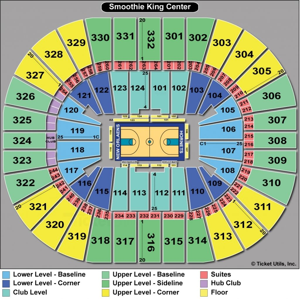 Elegant As Well As Interesting Pelicans Seating Chart
