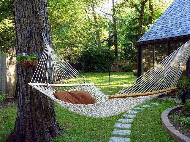 Amazing Wonderful Backyard Retreats Interior Pinterest - Backyard hammock ideas