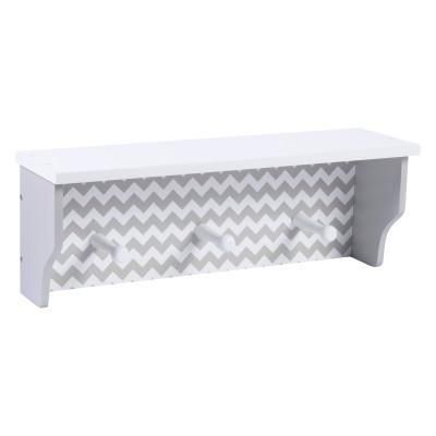 Dove Gray Chevron Wall Shelf Grey Chevron Walls Chevron