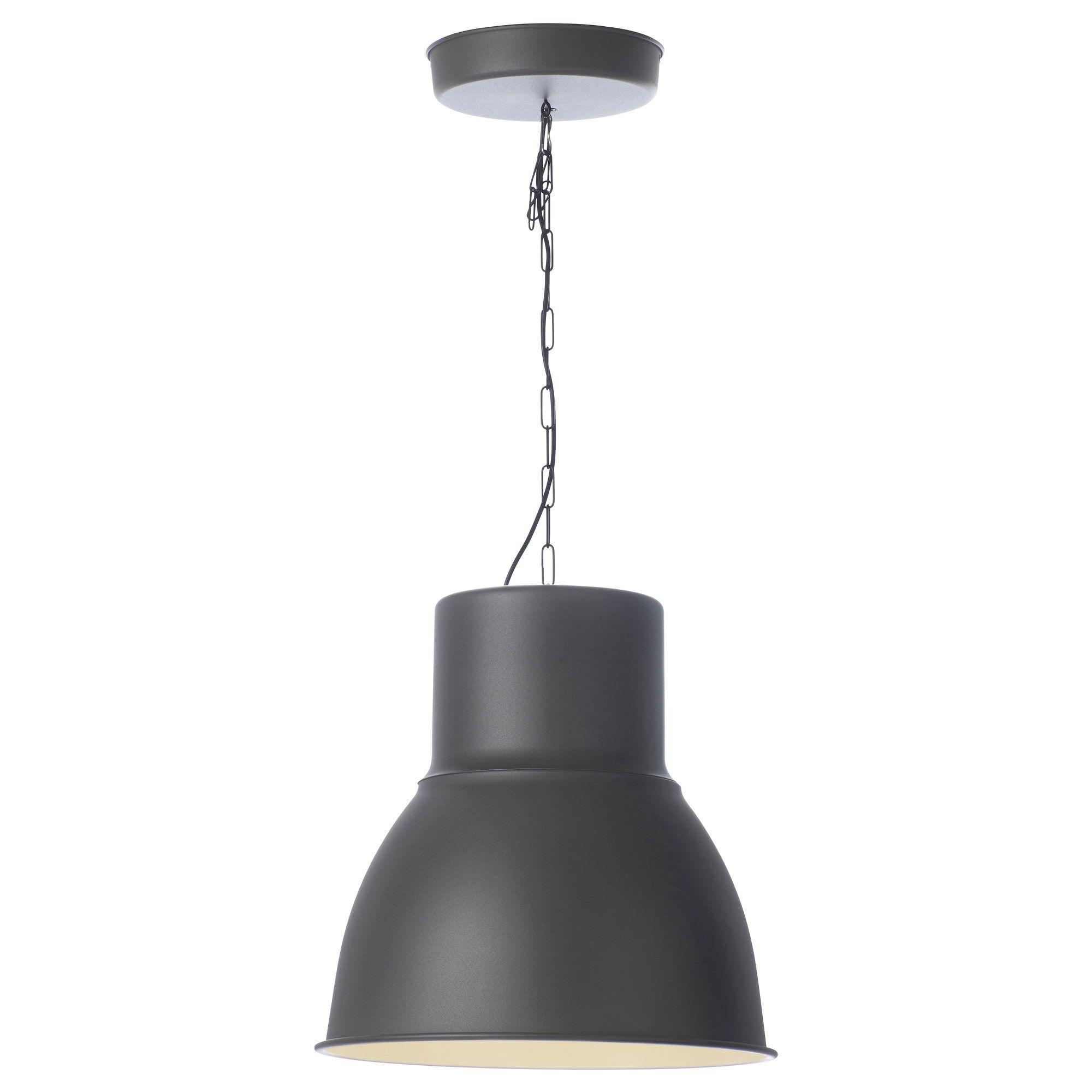 Hektar Pendant Lamp Dark Gray 19 Ikea In 2020 Lamp Pendant Lamp Acrylic Chandelier
