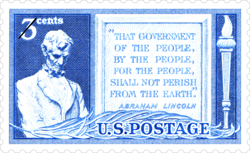 85th Anniversary of Gettysburg Address, released in 1948, USPS Stamps
