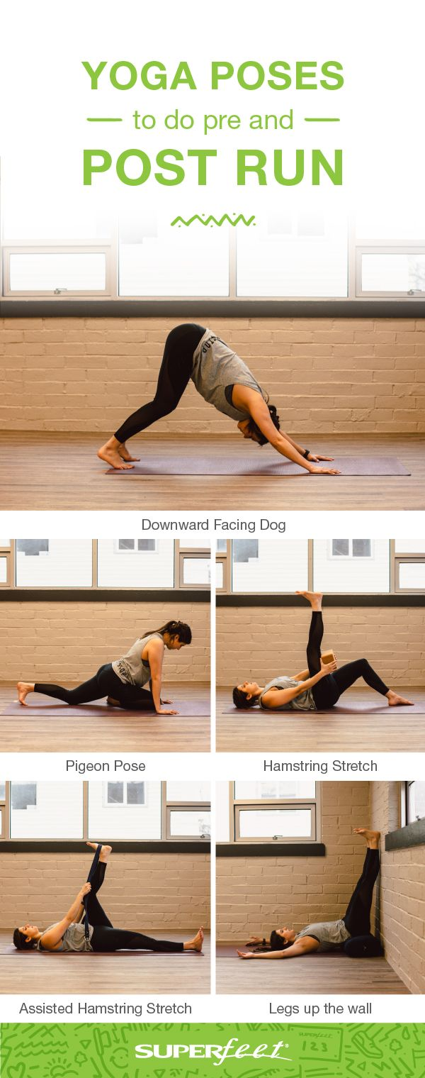 5 Yoga Poses For Runners To Do Pre And Post Run Superfeet Superfeet Yoga Poses Cool Yoga Poses Fitness Body