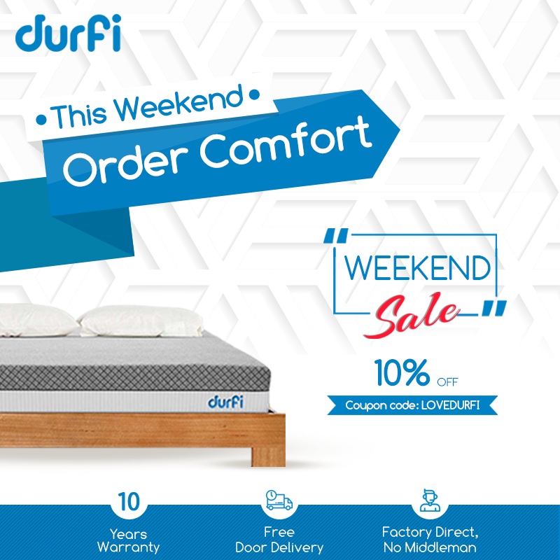 This Weekend Order Comfort At 10 Discount Get Most Comfortable Sleep With Durfi S Cotton Candy Memory Fo Mattress Sales Sleep Comfortably Furniture Promotion