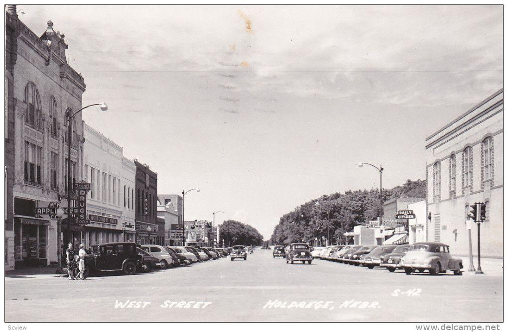 Rp West Street Holdrege Nebraska 30 40s Street Nebraska Street View