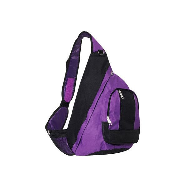 Everest Sling Bag Set Of 2 Dark Purple 36 Liked On Polyvore Featuring Bags Backpack