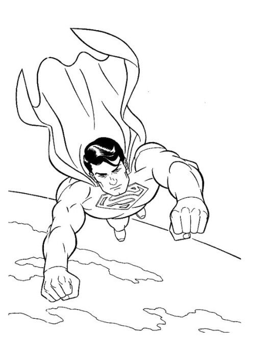 Superman Flying With Good Coloring Pages Superhero Coloring Pages Superman Coloring Pages Superhero Coloring