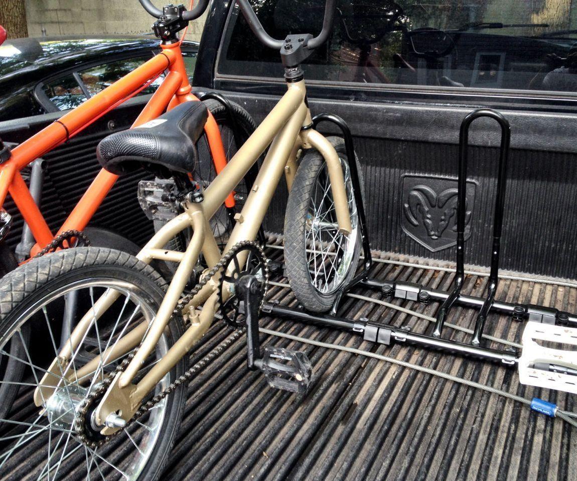 Cheap bike rack for a pickup truck bed truck bed bike
