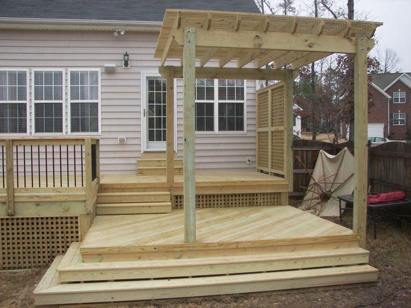 Pergolas Deck With Pergola Multi Level Deck Patio Design