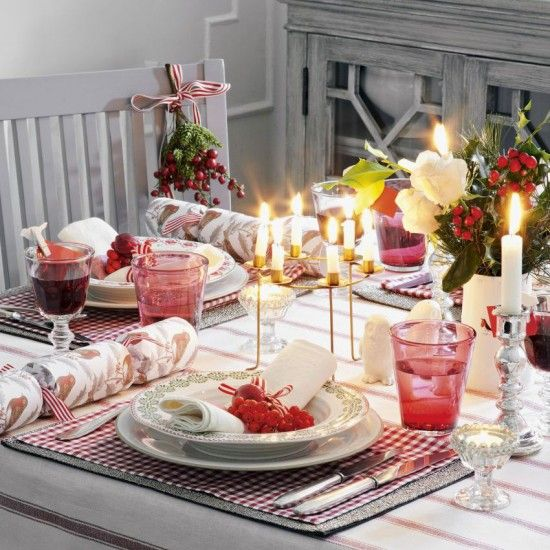 Dazzle with your Christmas table settings & Habitat Ike Black And White   Christmas table settings