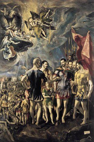 El greco,  Martirio de San Mauricio y legión Tebana. Monasterio del Escorial
