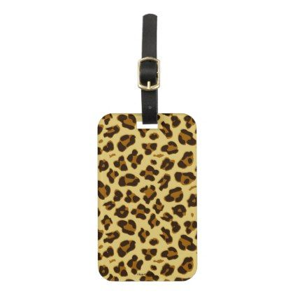 Leopard Animal Print Pattern Luggage Tag  Pattern Sample Design