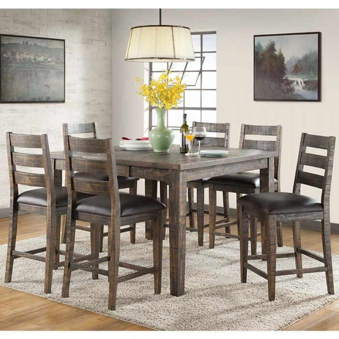 Glenwood Solid Wood 7 Piece Counter Height Dining Set Weekends Only Furniture Mattress