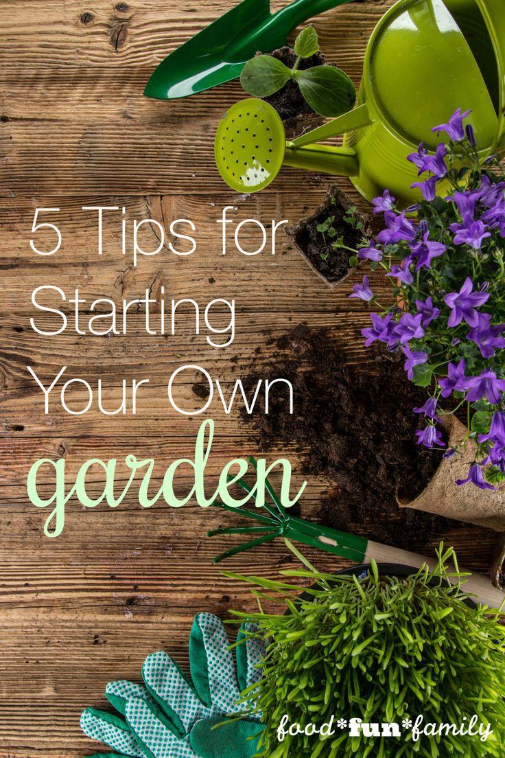 5 Tips for Starting Your First Garden | Gardens, Vegetable garden ...
