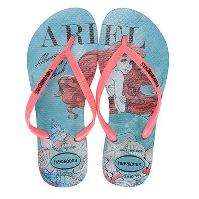 Havaianas Slim Princess Ariel Flip Flops 7LxaT7S6T1