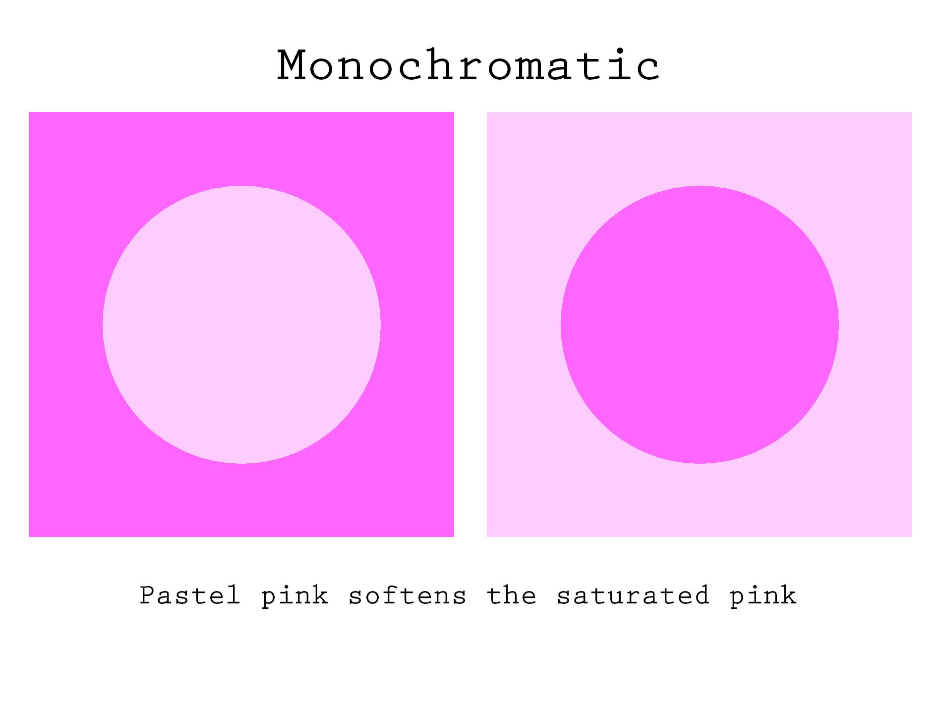Monochromatic Monochromatic Pastel Pink Light Colors
