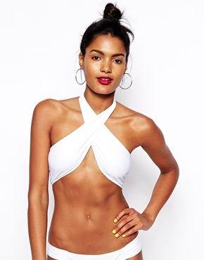 Women S Swimwear Bikinis Swimsuits Beach Clothing Asos Wrap Swimsuit Cross Wrap Bikini Top Halter Bikini Top