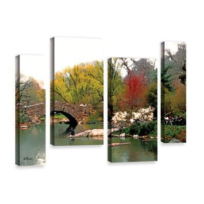 """ArtWall Saturday Central Park by Linda Parker 4 Piece Photographic Print on Wrapped Canvas Set Size: 24"""" H x 36"""" W x 2"""" D"""