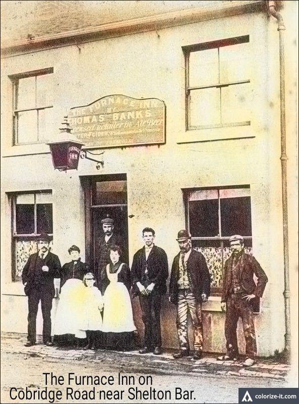 The Furnace Inn Cobridge road by the old Shelton Bar site