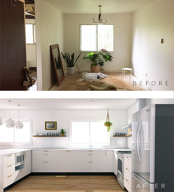 Modern Kitchen Design Part I: Mood Board + Renderings