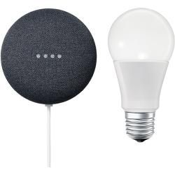 Google Nest Mini & Osram Smart+ Set 2 (Anthrazit)Bauhaus.info #googlehomemini