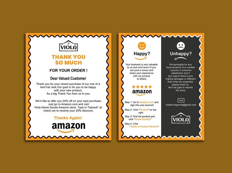 Designstore7 24 I Will Design Amazon Thank You Card Product Insert Package Insert For 5 On Fiverr Com Thank You Card Design Thank You Cards Card Maker