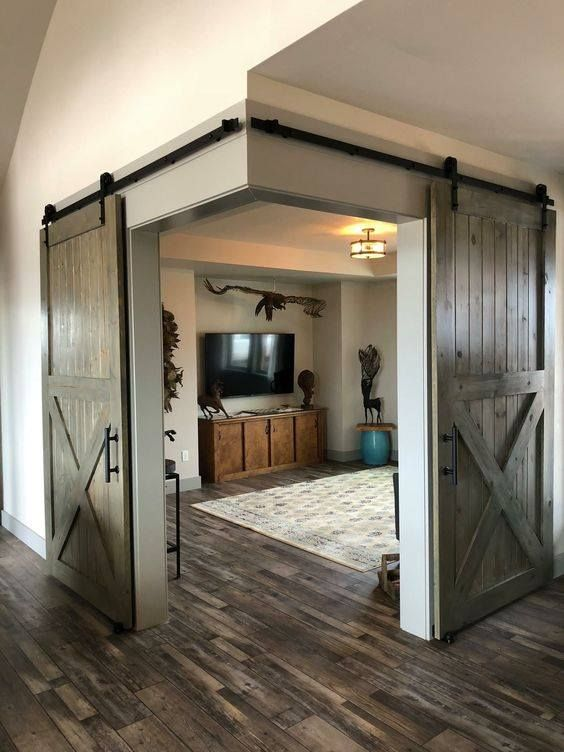 A unique #door opening. #barndominiumideas
