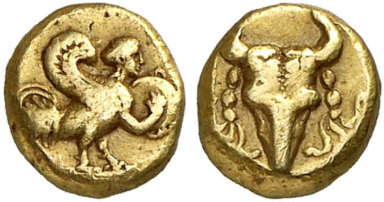 El Twelfth Stater Uncertain Standard Greek Coin Ionia Uncertain Asia Mint Late 5th Century Bc 0 97g Rosen Ancient Coins Greek Coins Ancient Greek Coin