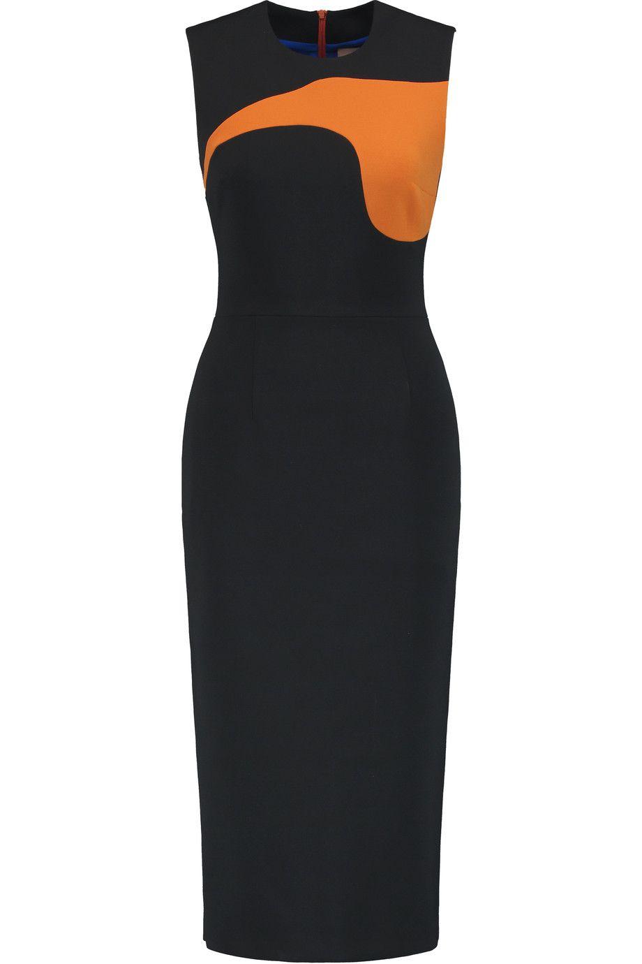 ROKSANDA Haussen Color-Block Crepe Dress. #roksanda #cloth #dress